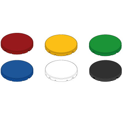 Button cap sets for unlit buttons