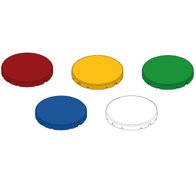 Button cap set for illuminated buttons
