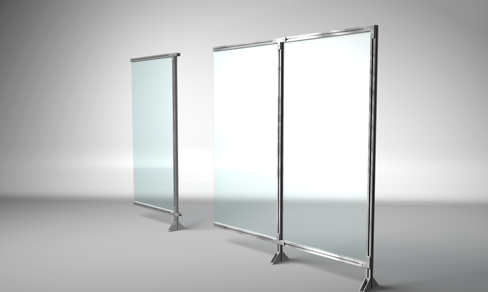 Safety enclosure with glass