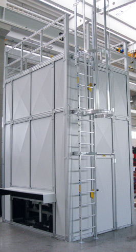 Safety enclosure with metal sheet