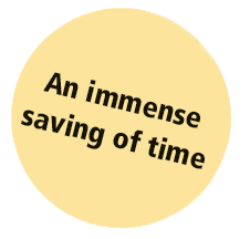 Immense saving of time
